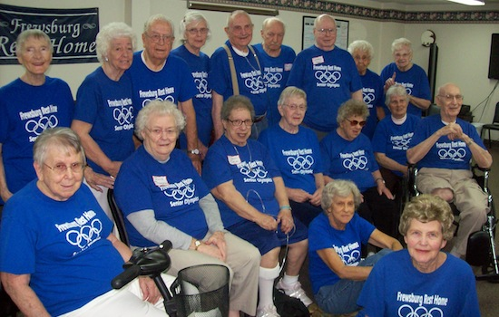 Frewsburg Rest Home Senior Olympics Team
