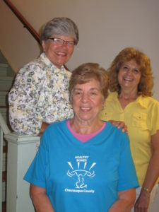 """In the photo (left) is Joanne E. Nelson and (center) is Ann Galbato, (right) Nancy Kerrin, Certified StrongWomen™ trainers who will be conducting the fall """"Healthy Bones – Chautauqua County"""" classes."""