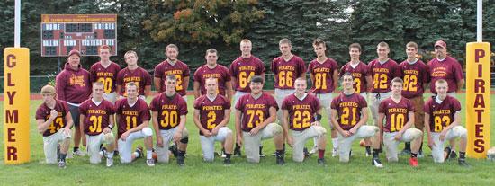 2013 Clymer Pirates Varsity Football Team