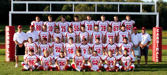 Randolph Cardinals Football Team, 2013