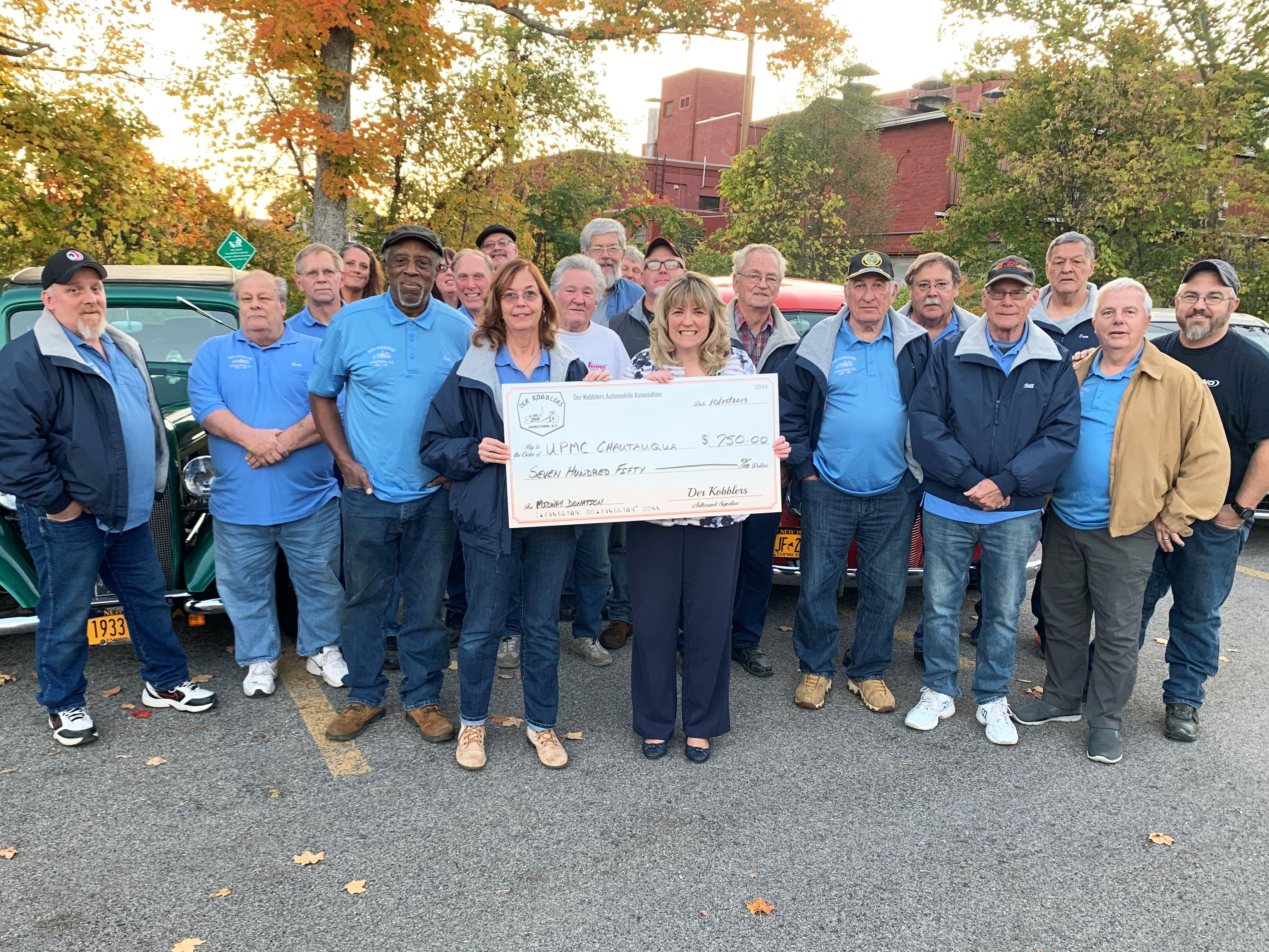 Der Kobblers Automobile Association Donates Over $16,750 Over 11 Years to UPMC Chautauqua!