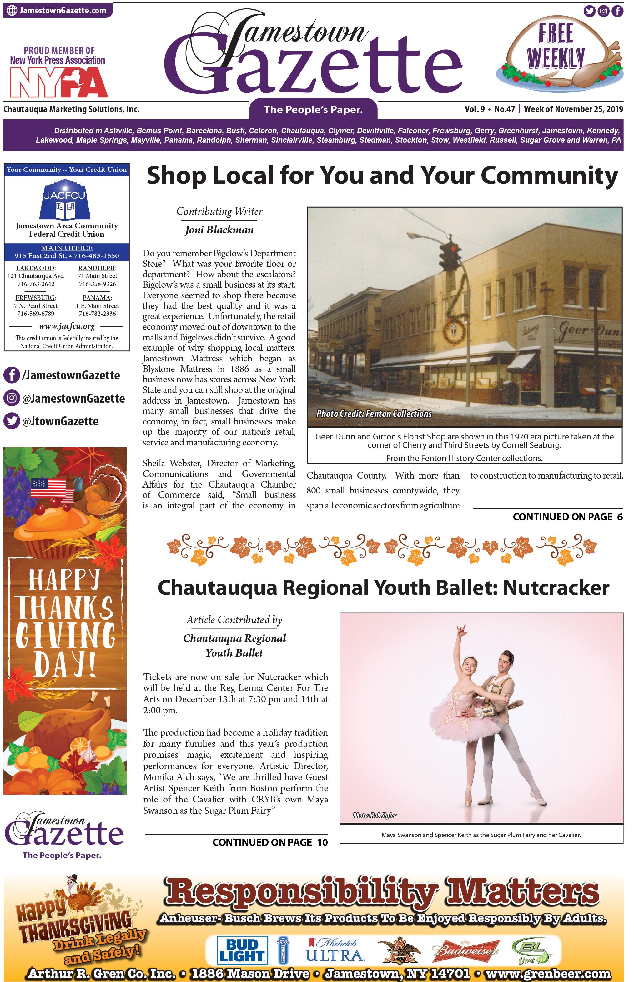 Front Page - Nov 25, 2019