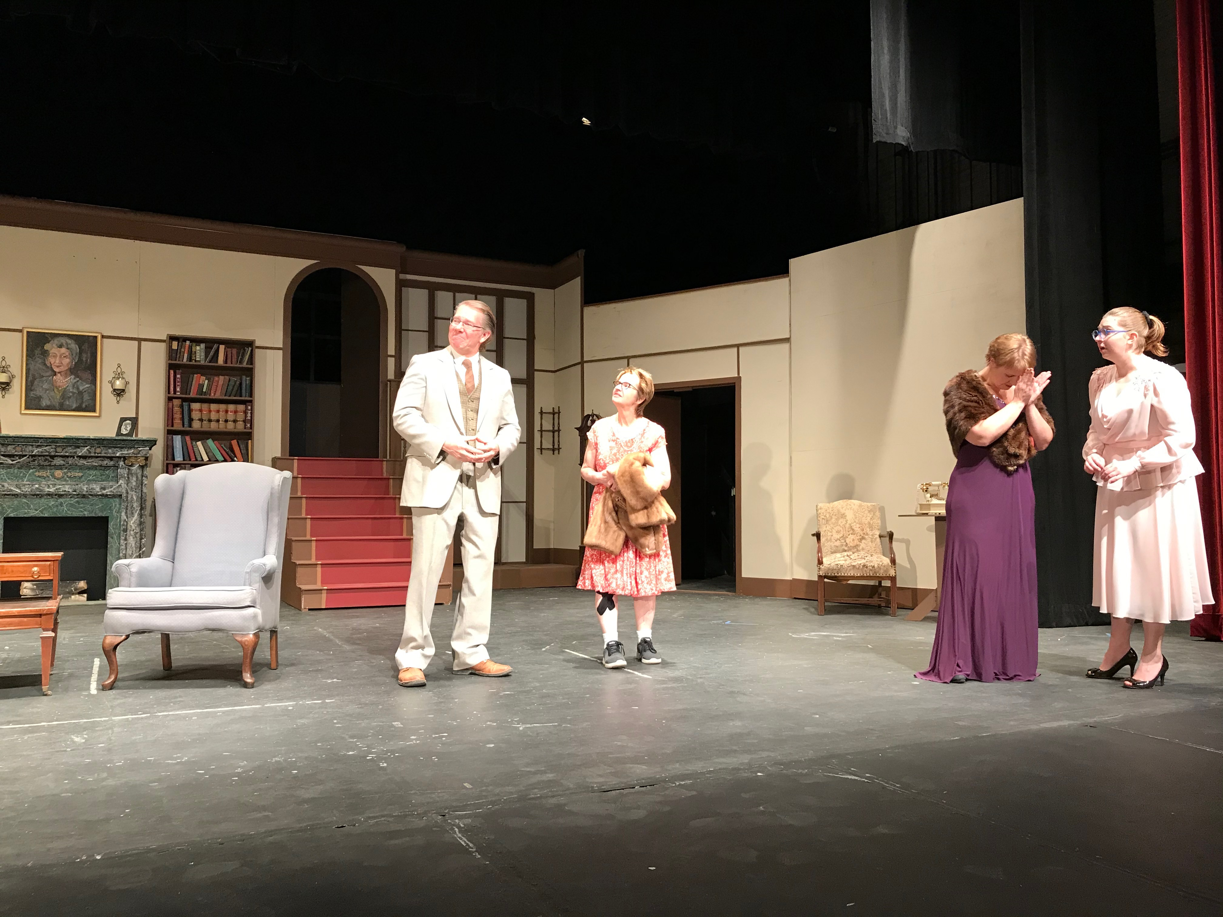 Harvey(invisible), Elwood, Mrs. Chauvenet, Veta, Myrtle Mae