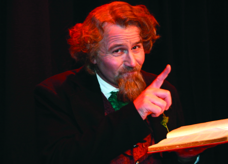 Mike Randall performs as Charles Dickens in his one-man show.