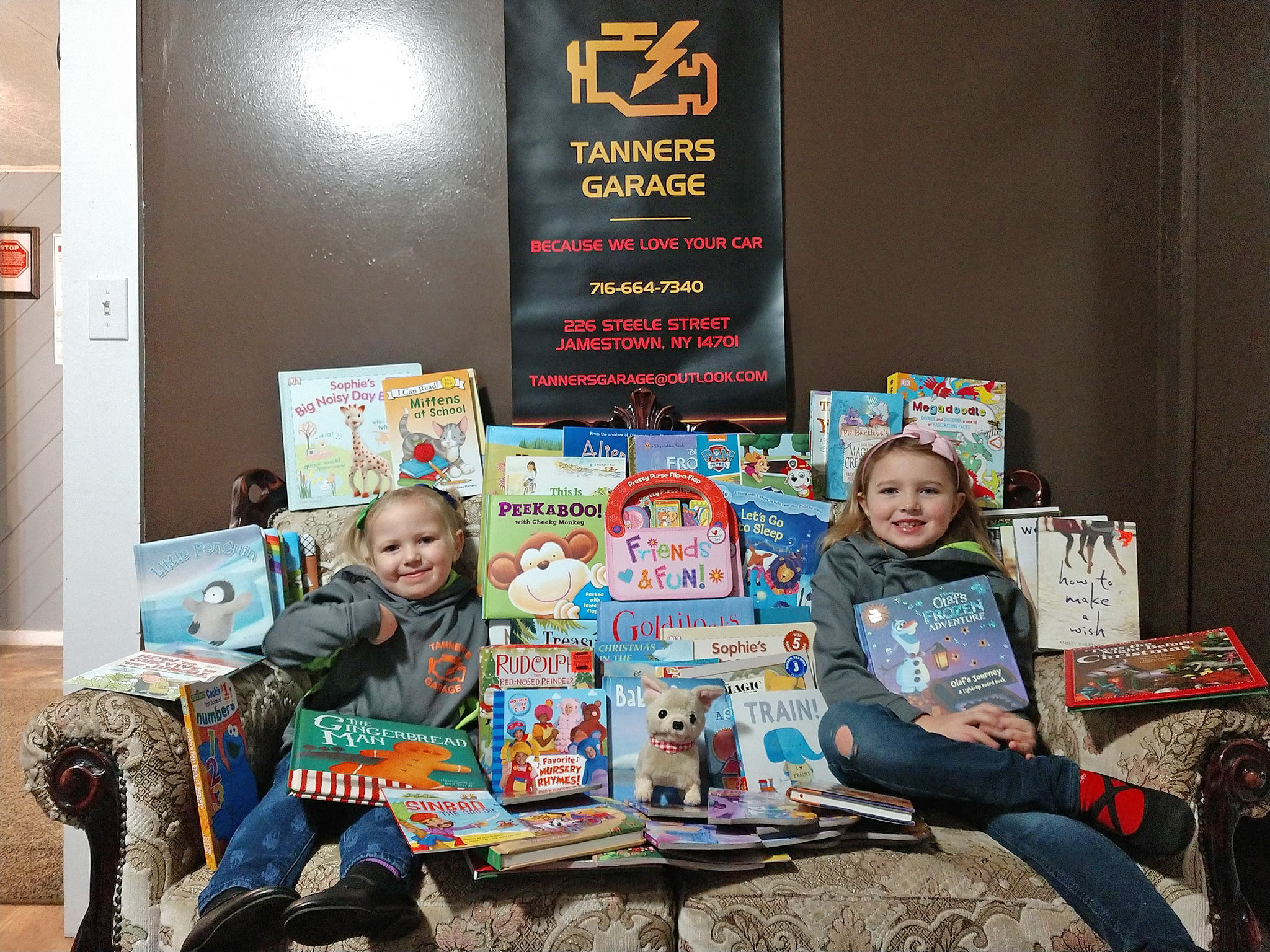Tanners Garage Book Drive