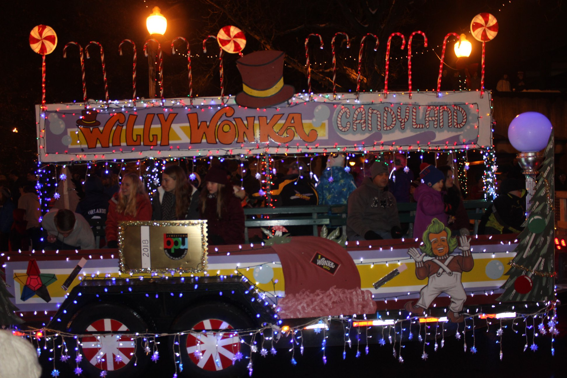 Float from the 2018 Jamestown Christmas Parade & Holiday Celebration.