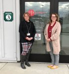 Carna Pierce, LMSW and CHPC Grief Counselor, stands with Jami Babcock, General Physician PC Practice Manage, at the PPC office entrance.)