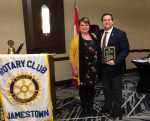 The Jamestown Noon Rotary Club Welcomed Jamestown's Mayor, Eddie Sundquist, into the Club