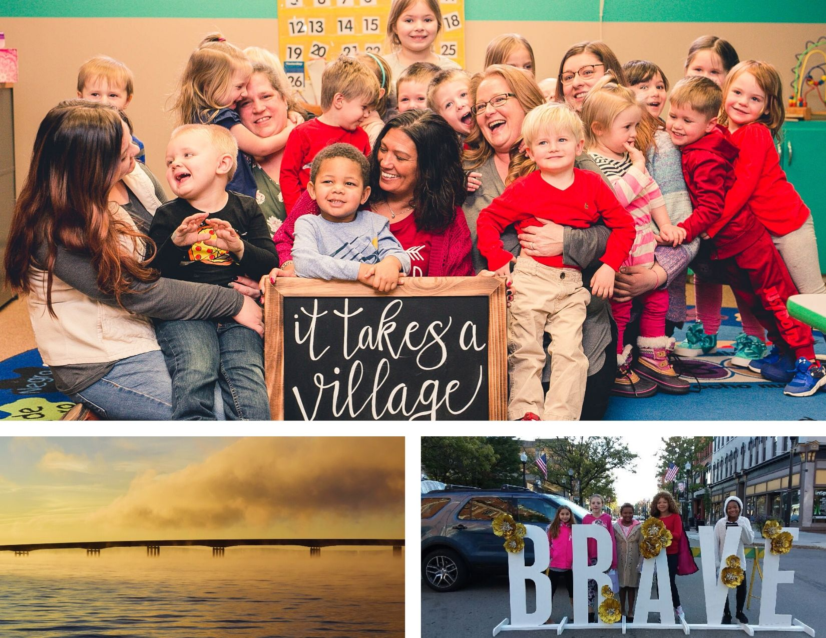The three winning photographs from the I Love CHQ County Photo Contest were submitted by Sarah Minor, Steve Hayes and Dianne Woleen.