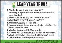 Lear Year Trivia