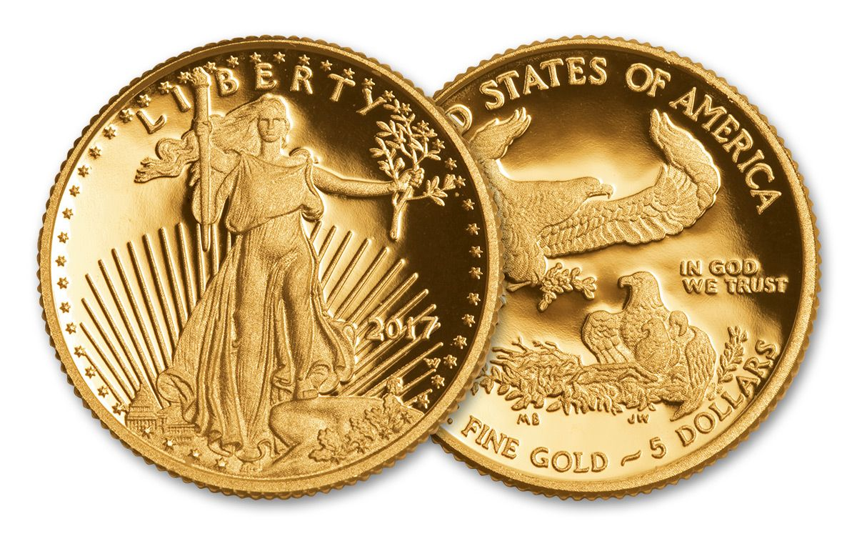 A tenth ounce Gold Eagle coin, like the one pictured here, will be among the prizes at the PenNY Coin Show on Sunday, March 22. The free event, presented by the Jamestown (N.Y.) and Corry (Pa.) Coin Clubs, is at the Celoron American Legion.