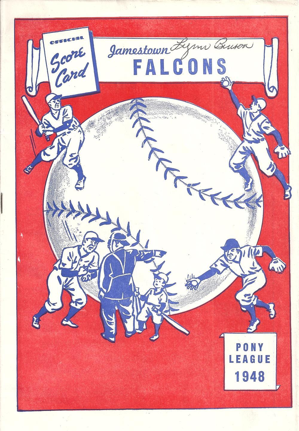 Jamestown Falcons 1948 Program