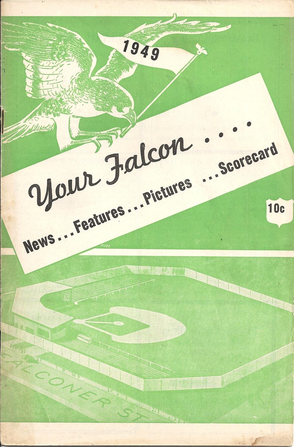 1949 Jamestown Falcons Program