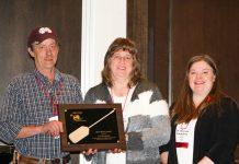 Ted Card, NYBPA Vice President; Lisa Kempisty, CCE Chautauqua Educator; Shannon Carpenter, DVM, Field Veterinarian