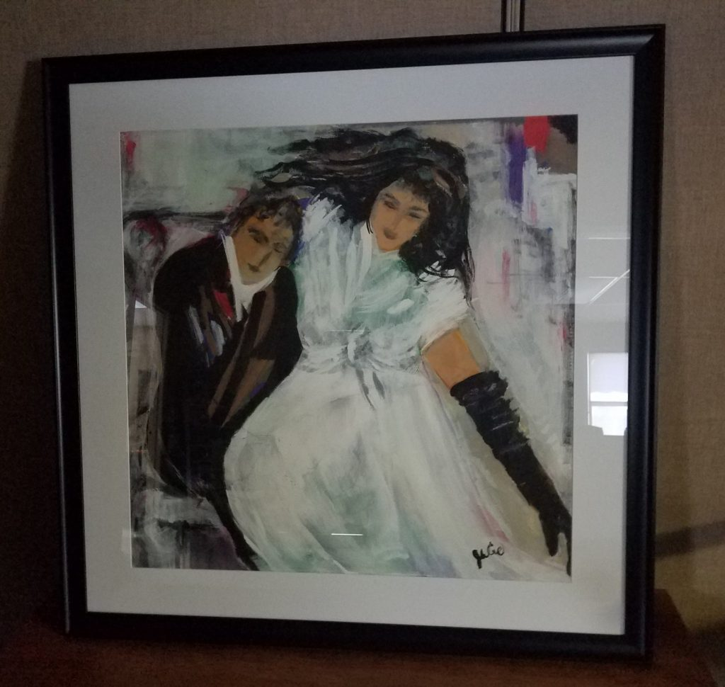 One of the items to be auctioned off at the event; painted by a CBA client.