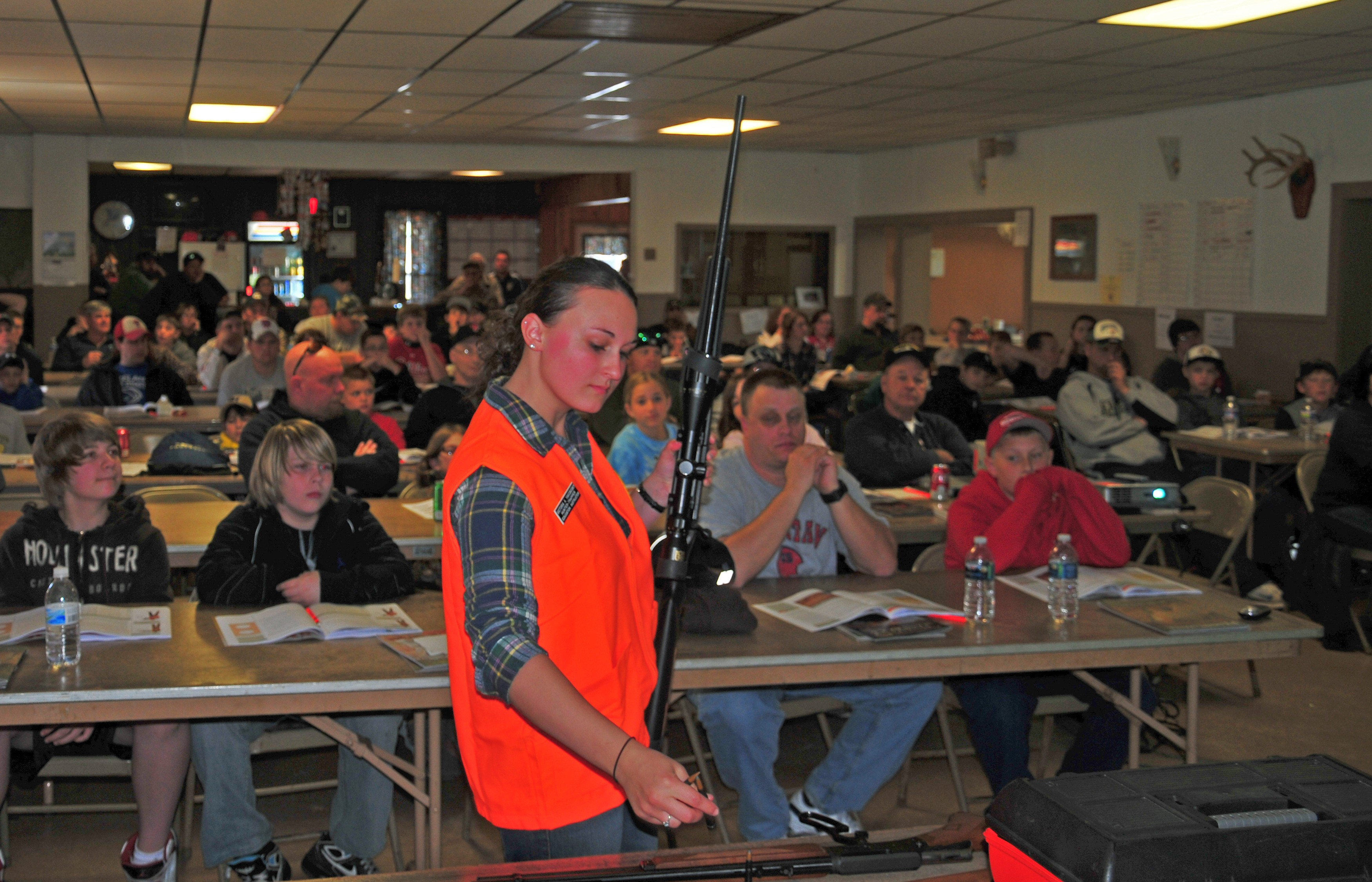 Much can be taught about hunter education in school classrooms, including gun safety.