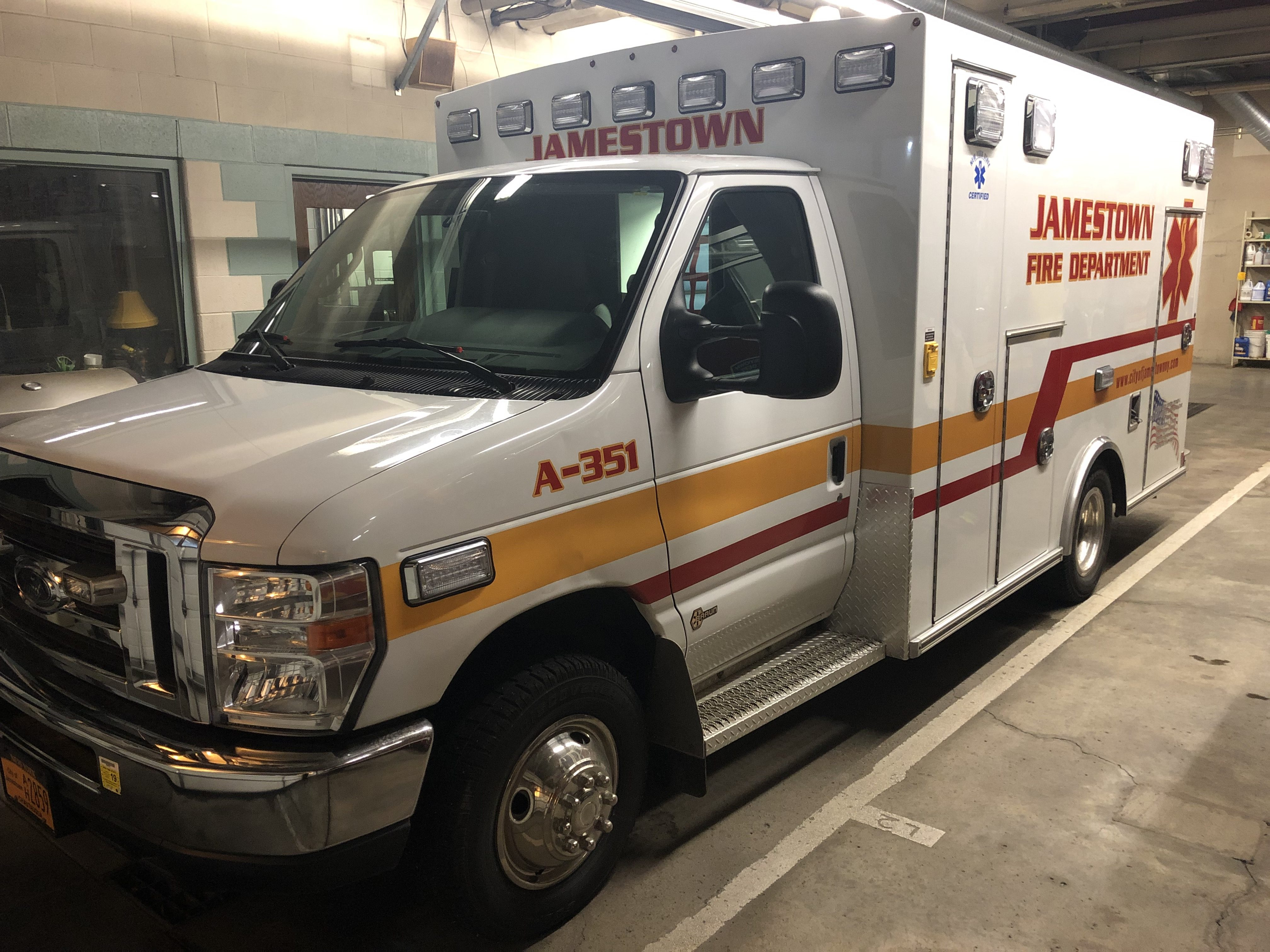 This ambulance serves Jamestown Fire Department's increasing need for emergency medical service, but more help is needed.