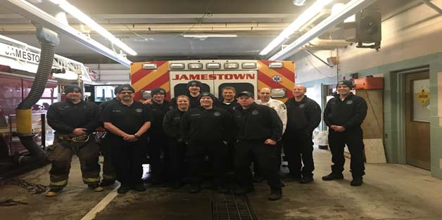 SECOND PLATOON: Front Left to Right: FF Emily Webster, FF Ben McLaughlin, FF Adam Akin. Back Left to Right: FF Chris Hendrickson FF Alex Clifford, FF Rob Smith, FF Evan VandeVelde, Lt. Brian Achterberg, Battalion Chief Don Mowry, Lt. Jon Winchester, and Lt. Ryan Roush