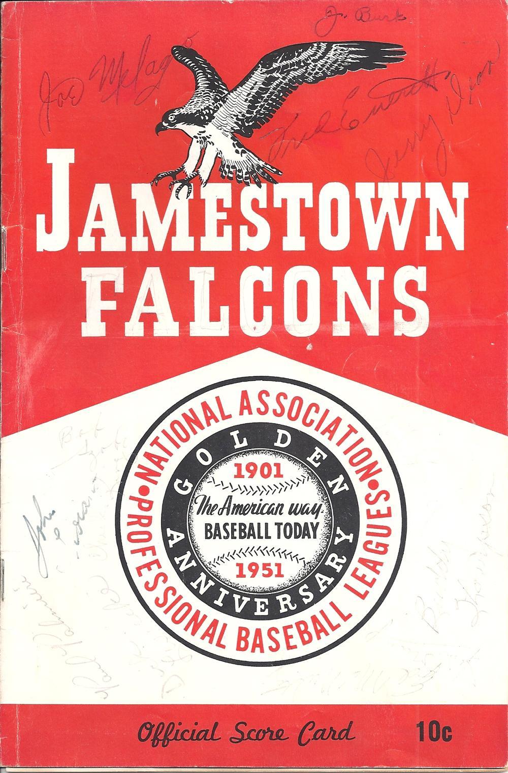Jamestown Falcons 1950 Program
