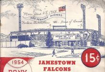 Jamestown Falcons 1954 Program