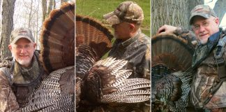 When it comes to turkeys, what's more important to the author than feathers, beards and spurs are the photos that document and preserve the trophy. (Steve Sorensen photo.)
