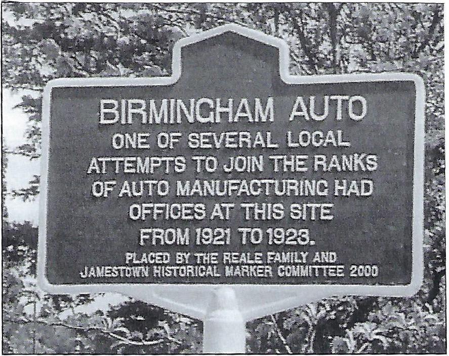 Birmingham Car Company Historical Marker
