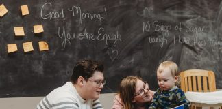 Young family who receives support services from JCLC