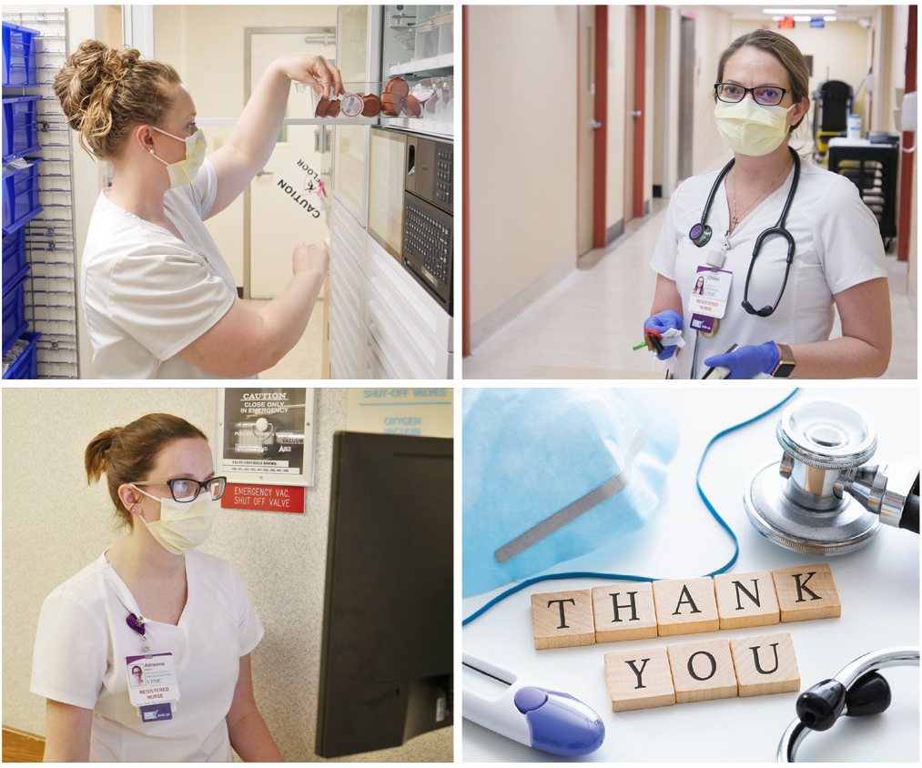 Thank You Nurses! Photos from left: Lyndsey Uhl , Maggie Sandberg, Christie Spackman