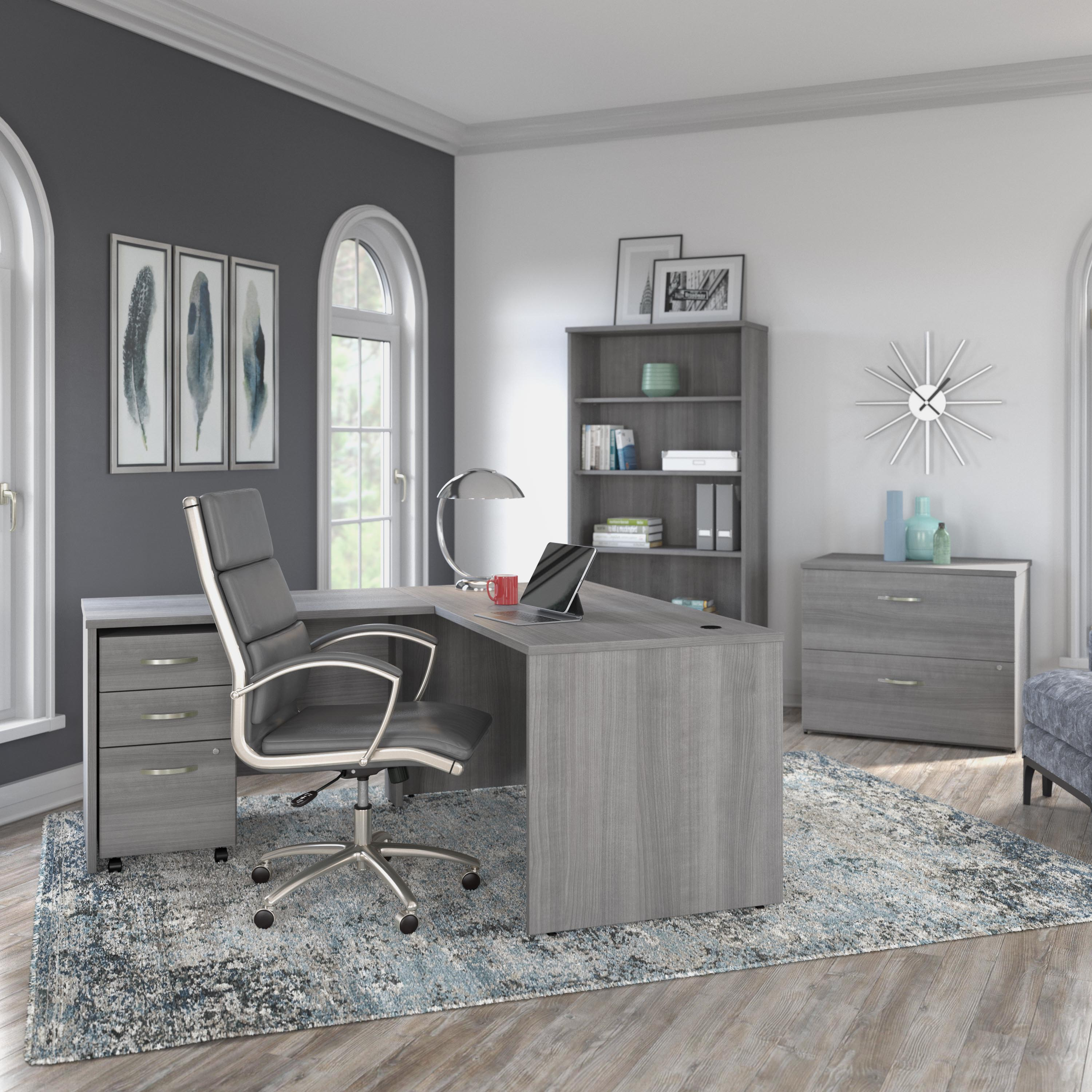A 3D rendering of the Bush Business Furniture Studio C Collection in a home office environment. An increased demand for work from home furniture has the combined Bestar and Bush Industries company anticipating a need for up to 40 new employees.