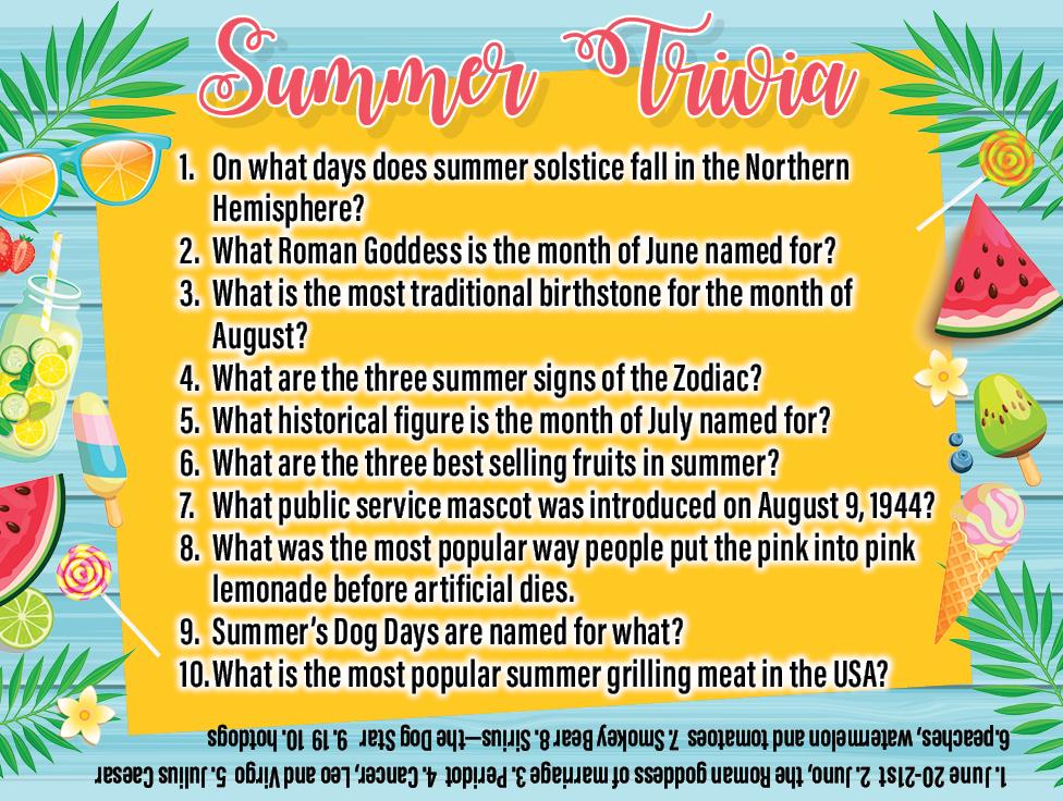 Summer Trivia