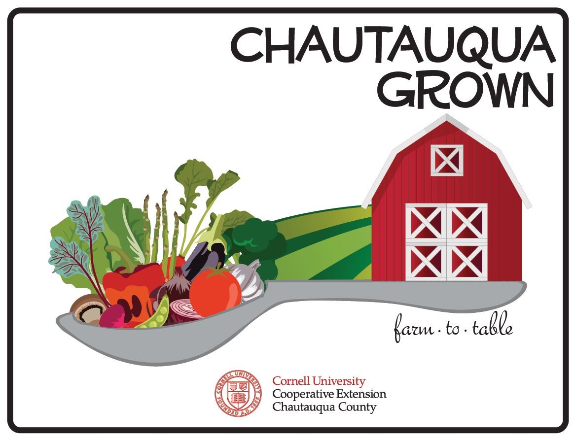 Chautauqua Grown is your source for all things local foods - find farms, restaurants, farmers markets, and more! Visit the website at www.cce.cornell.edu/chautauqua or call 716-664-9502 for more information.