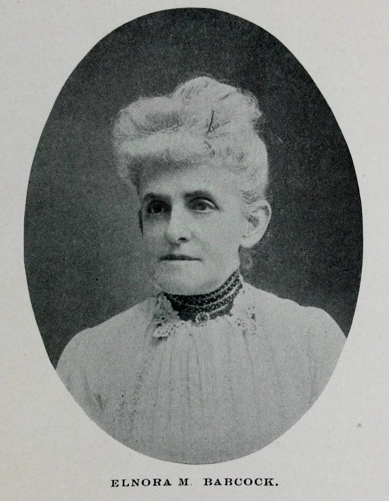 Elnora Monroe Babcock (1852-1934)  Suffrage leader, writer, and publicist was born in Warren County PA and was a powerhouse in the marketing and success of the 19th Amendment, women's right to vote.