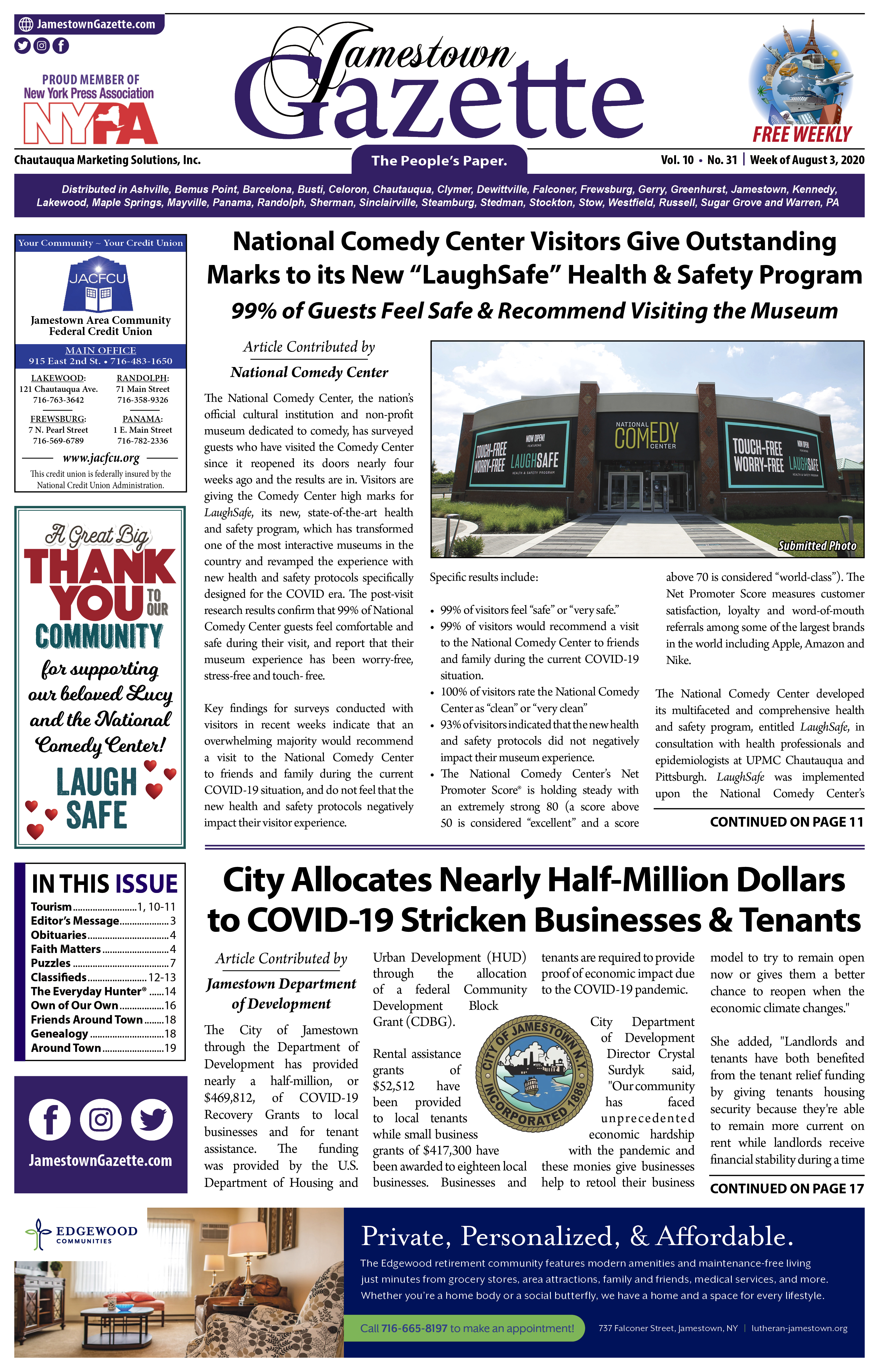 JG 08-03-2020 front page