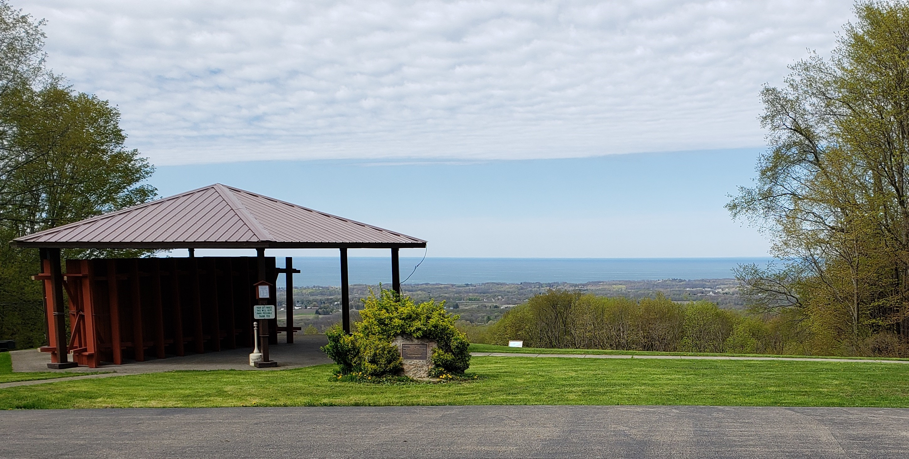 A view of Lake Erie shoreline from the Luensman Overview Park.