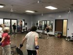 50 plus exercise class at the YMCA.