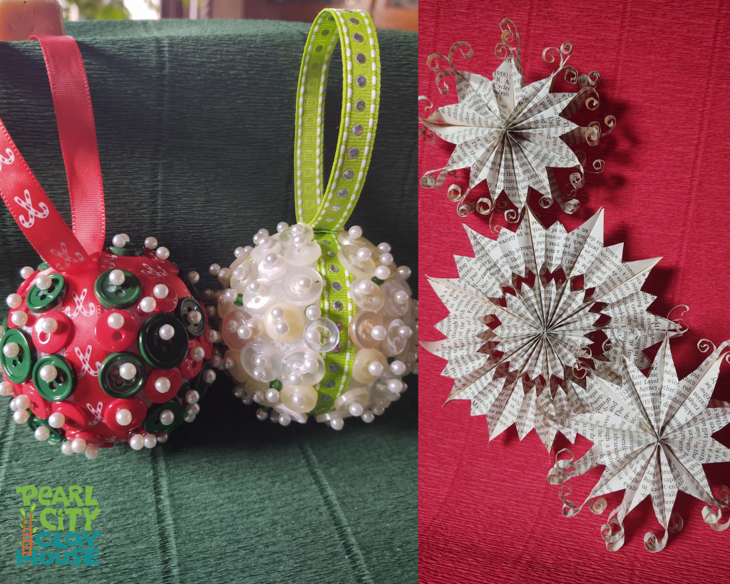 "Pearl City Clay House will offer ""12 days of Holiday Ornaments"" Classes in December. Register now!"