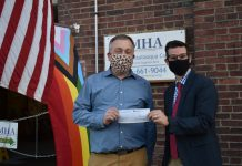 The Mental Health Association in Chautauqua County (MHA) was fortunate to be among several organizations and the Jamestown Public Schools to receive generous donations from St. Luke's Thrift Shop. Fr. Luke Fodor, rector of St. Luke's Episcopal Church in Jamestown (pictured on the right) stopped by the MHA to present a check in person to MHA Executive Director Steven Cobb.
