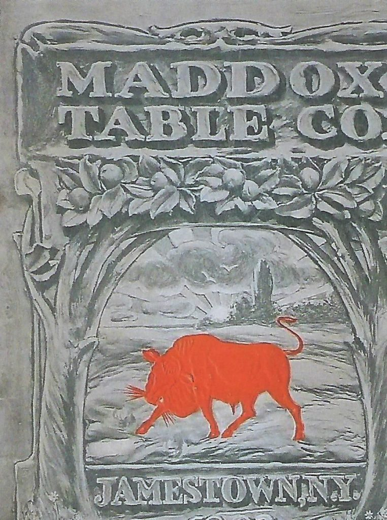 Maddox Table Company trade mark.