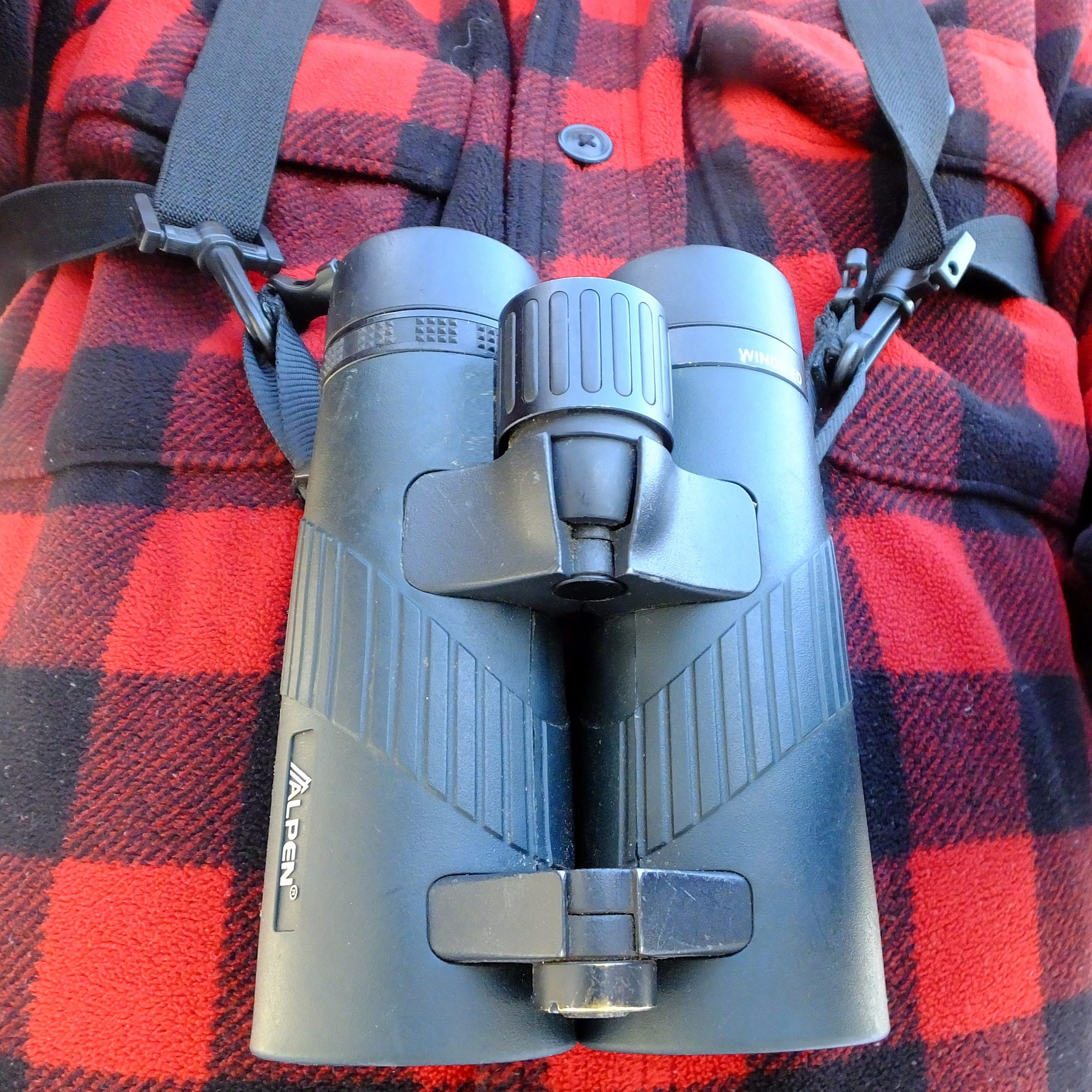 A shoulder harness for your binoculars keeps them from bouncing against your chest and makes them easy to carry.